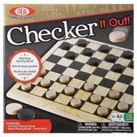 Ideal Checker It Out Game with Wooden Checker