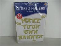 Beistle 55219-GD Gold Designer Letter and Number
