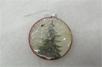 """As Is"" Glass Spider Web Legend Ornament - Gift"