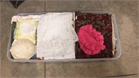 Tote of Doilies & Sheets