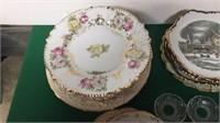 Vintage Plates, Saucers, Tea Pot, Etc.