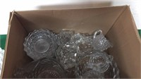 Assorted Clear Glass Dishes