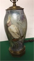 Lamp w/ Parrot- No Shade