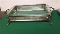 Fire King 13x9 Baking Dish w/ Vintage Holder &