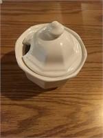 Sugar bowl and ironstone china serving dish and