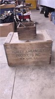 Purity Creamery Wooden Crate & Sm. wooden Box W/