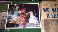 Buffalo News From Wall On Moon, Space Shuttle
