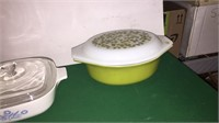 2- Corning Ware & 1- Pyrex Covered Dishes