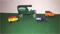 6- Matchbox Card & 2- Ertl Vehicle Banks