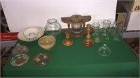 Pipe Stand, Glasses, Bowls, Lids, Etc.