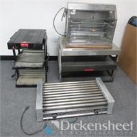 Restaurant Equipment, Hotdog Roller, (2) Heated