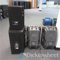 (4) PRO Audio Speakers, (2) JBL EON15P-1, (1)