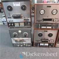 (8) Home Audio Reel to Reels, Teac 4300, Teac A-40
