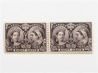 Canada- 1897 8c Pair Jubilee S/C #56 MNH VF+