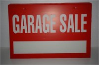 LOT OF 14 GARAGE SALE SIGNS
