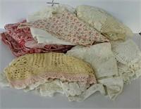 Linens - tablecloths, dresser scarves, etc - some