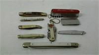 Pocket knives - 9 total