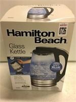 HAMILTON BEACH 1.7L GLASS KETTLE
