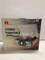 1 BY ONE STEREO TURNTABLE