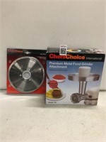 CHEFS CHOICE METAL FOOD GRINDER WITH SLICER BLADE