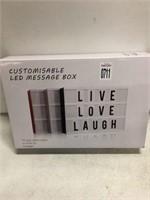 CUSTOMISABLE LED MESSAGE BOX
