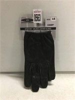UNLINED LEATHER GLOVES LARGE