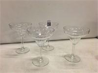 DECO 4 PACK MARGARITA GLASSES - PLASTIC