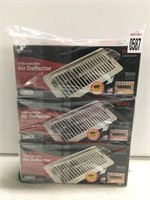 PACK OF 3 UNBREAKABLE AIR DEFLECTOR