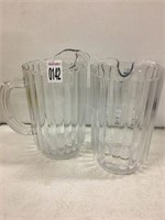 SET OF 2 WATER PITCHERS