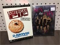 AMERICAN PIE, SEX & CITY DVD'S