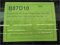 2013 FORD F250 XL CREW CAB 4X4