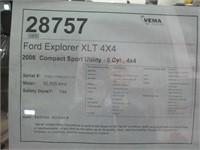 2008 FORD EXPLORER XLT 4X4