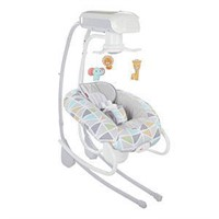 Fisher-Price 2-in-1 Deluxe Cradle 'n Swing, Animal