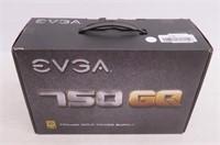 EVGA 750 GQ, 80+ GOLD 750W, Semi Modular, EVGA ECO