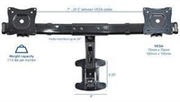 VIVO Dual Monitor Wall Mount Stand Black Deluxe