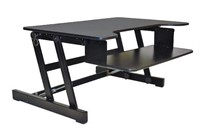Rocelco Height Adjustable Sit/Stand Desk Computer