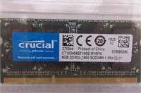 Crucial 8GB Single DDR3/DDR3L 1600 MT/S