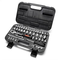 """MAXPOWER 42-Piece 1/4""""& 3/8""""Dr. Socket Wrench Set"""
