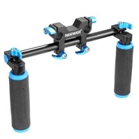 Neewer DSLR Dual Handle Hand Grip,Black/Blue