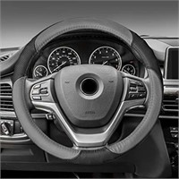 FH Group FH2001GRAYBLACK Steering Wheel Cover