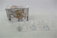 """""""As Is"""" Home Essentials Footed Glass Dessert Bowls"""