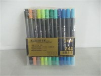 Brush Pen Set-24 Colours Water Based Duel Tip