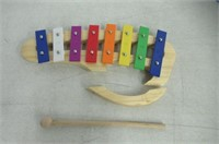 """As Is"" Wooden 8 Notes Xylophone"
