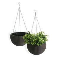 Algreen Products Self Watering Wicker Hanging