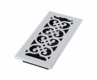 Decor Grates FS410-WH 4-Inch by 10-Inch Scroll