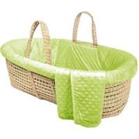 Tadpoles Minky Dot Moses Basket Bedding Only,