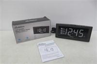 "Electrohome 1.8"" Jumbo LED Alarm Clock Radio with"