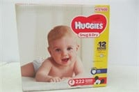 HUGGIES Snug & Dry Diapers, Size 2, 222 Count