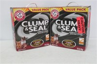 (2) ARM & HAMMER Clump & Seal Cat Litter,