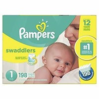 Pampers Swaddlers Disposable Baby Diapers Size 1,